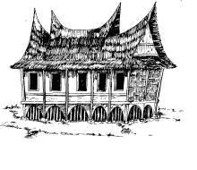 Gambar Rumah Adat Jawa Hitam Putih Rumah Adat Jawa Joglo Belajar