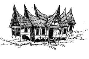 550+ Gambar Mozaik Rumah Gadang HD